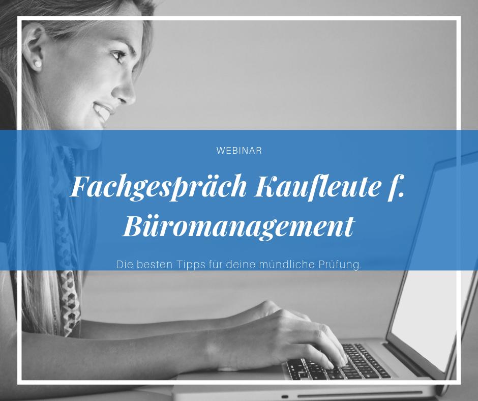 Fachgespräch Kauffrau für Büromanagement