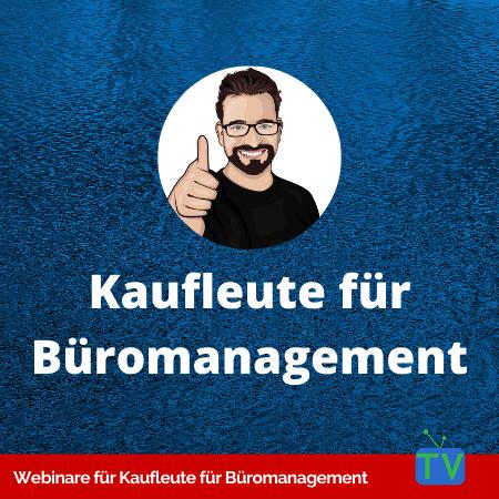 Webinare für Kaufmann / Kauffrau für Büromanagement - GripsCoachTV